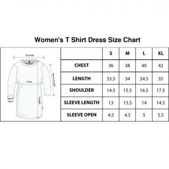 updated t shirt dress size chart swag swami
