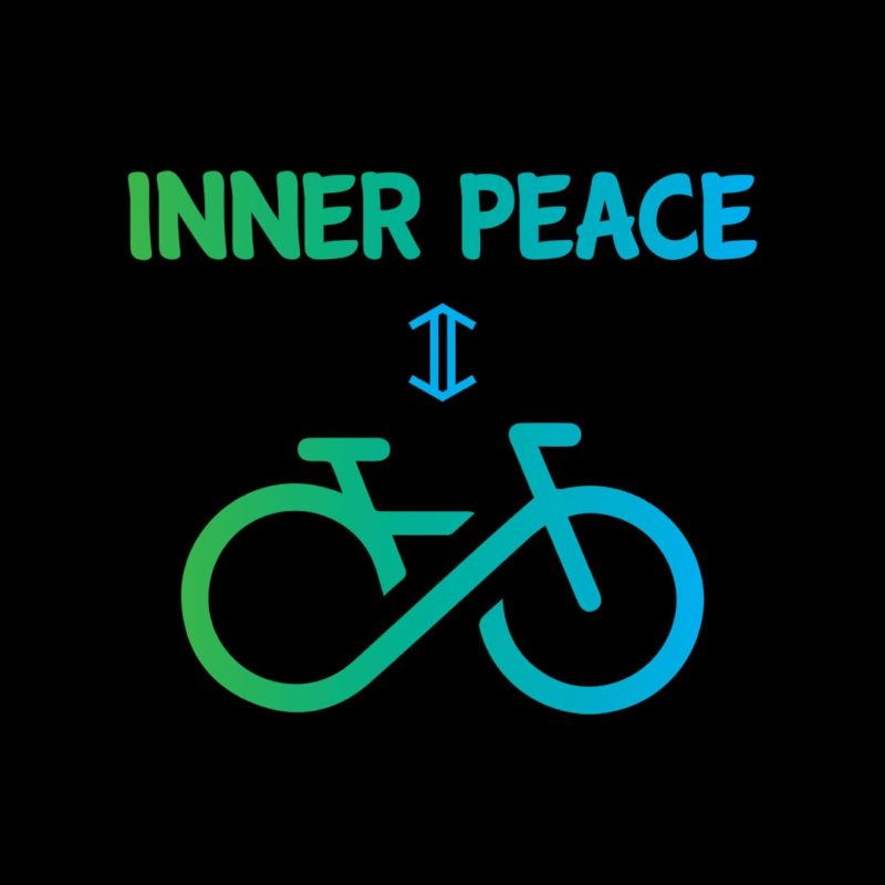 664d2fe6 cycling inner peace fitness motivation t shirt india 8.5in by 7.3in