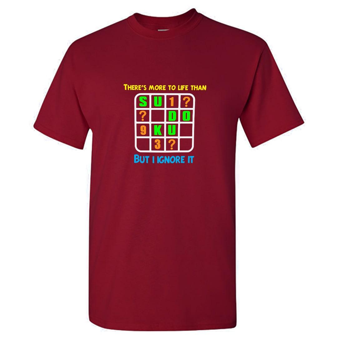 Theres More To Life Than Sudoku T Shirt India Men Maroon Min