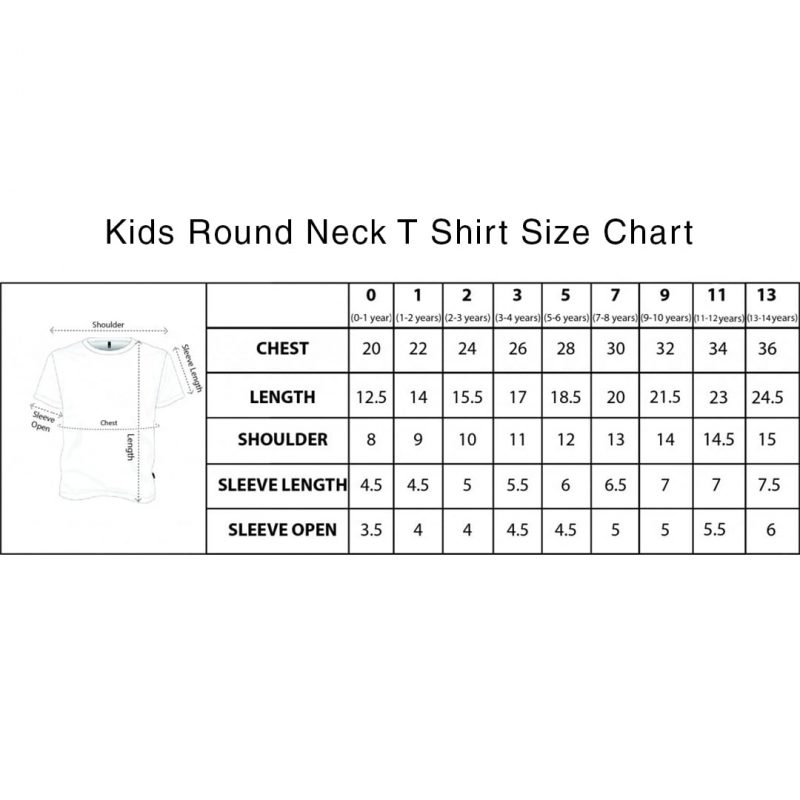 kids t shirt size chart swag swami