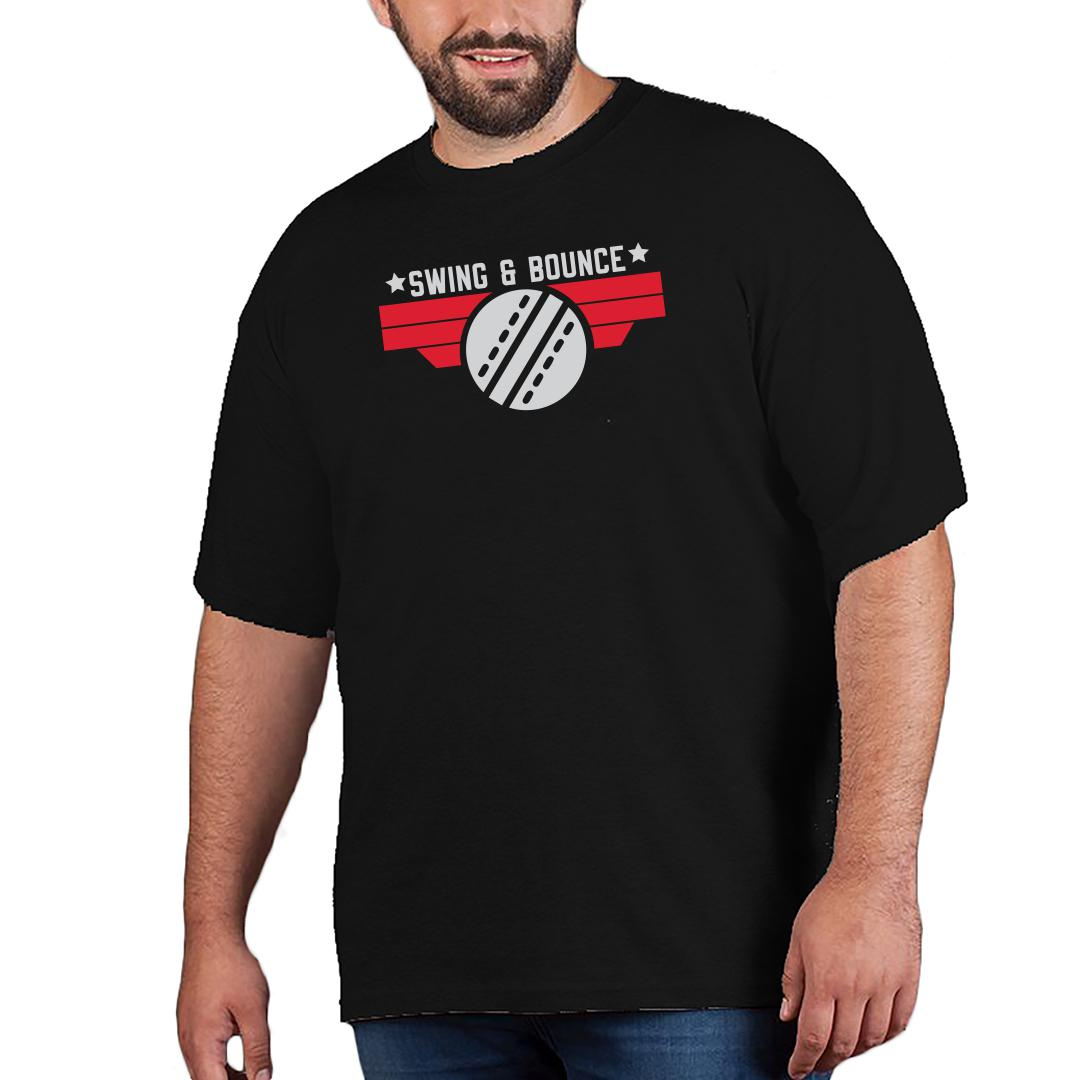 Swing And Bounce Men Plus Size T Shirt Black Front