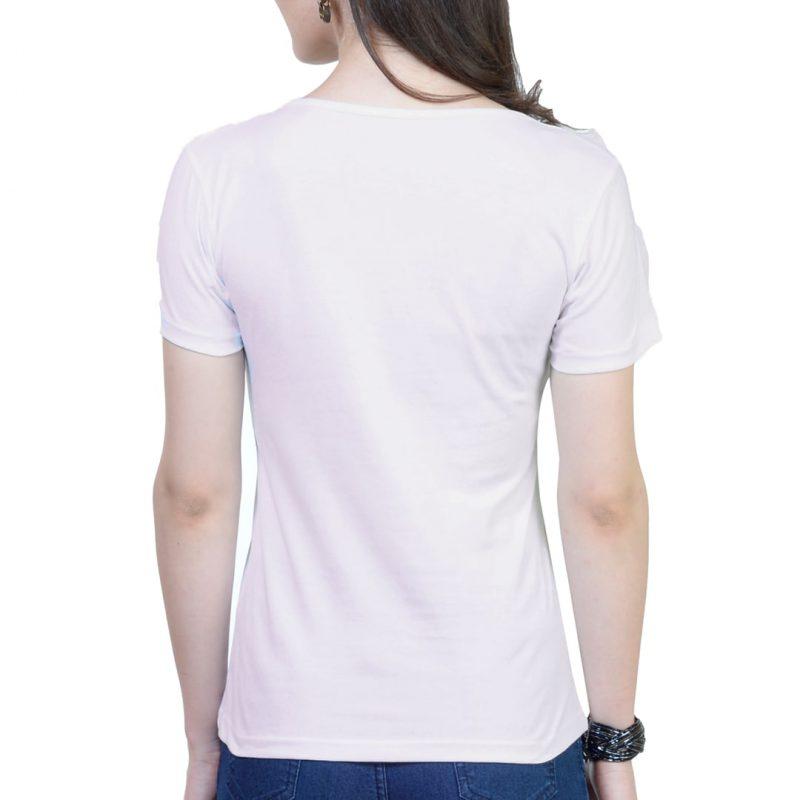 women t shirt white back min