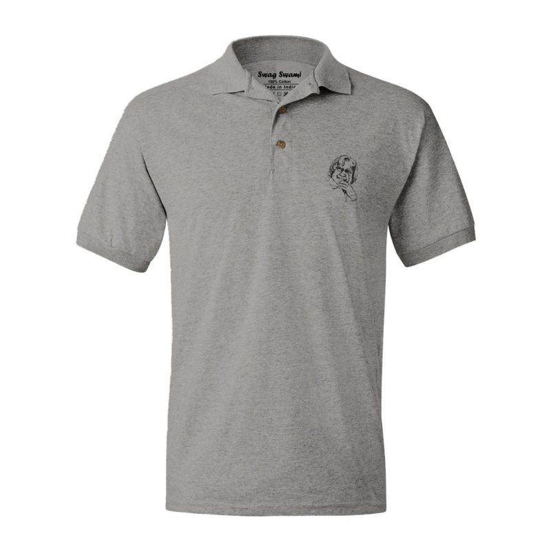 apj abdul kalam grey polo t shirt