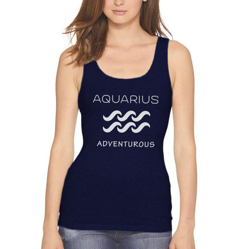 aquarius adventurous women tank top navy front