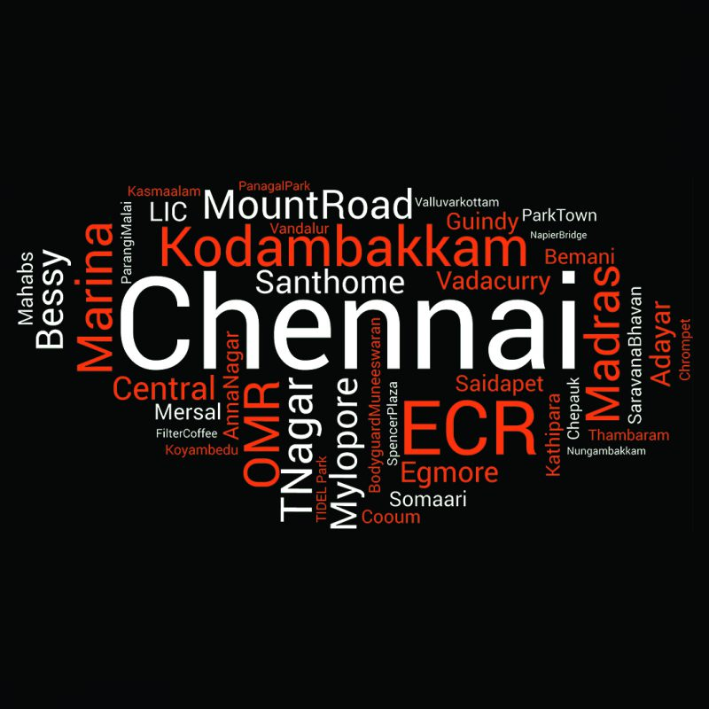 chennai word cloud