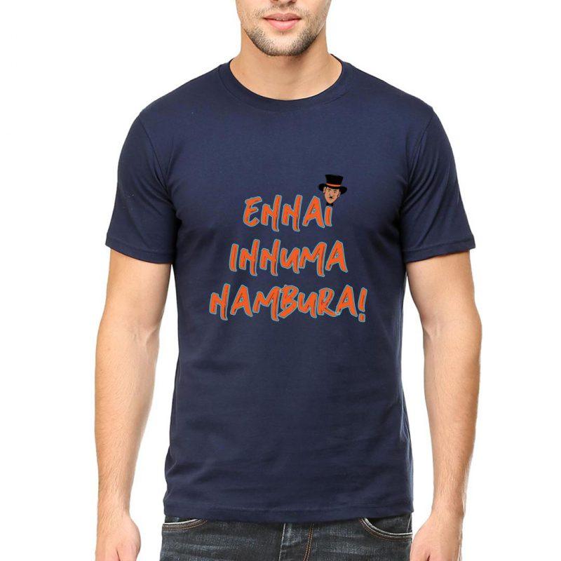 ennai innuma nambura men round neck t shirt navy front