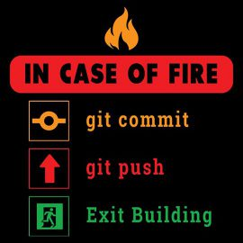 in case of fire git commit