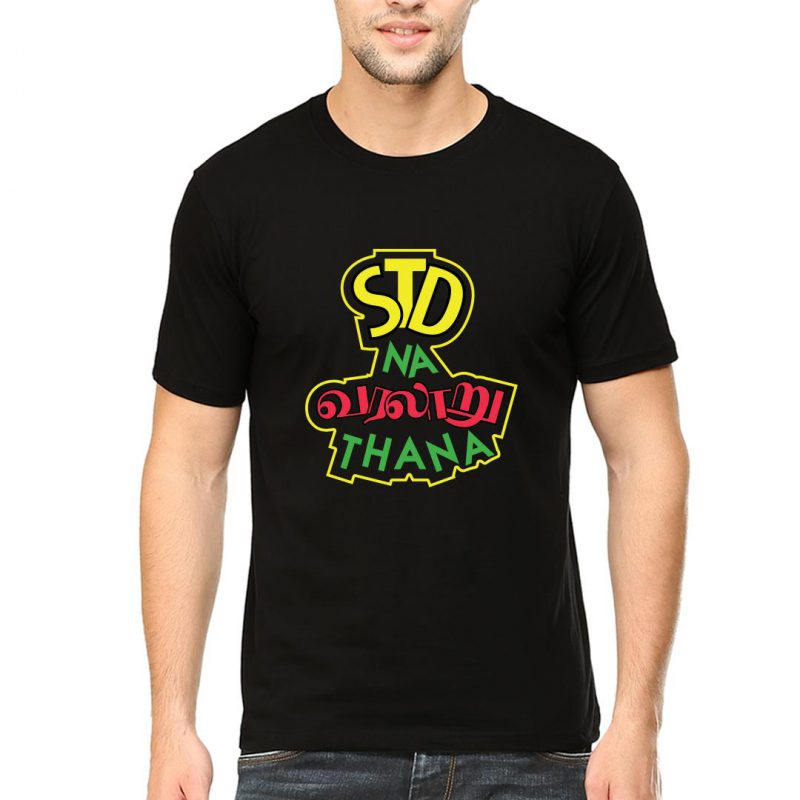 std na varalaru thaana men round neck t shirt black front