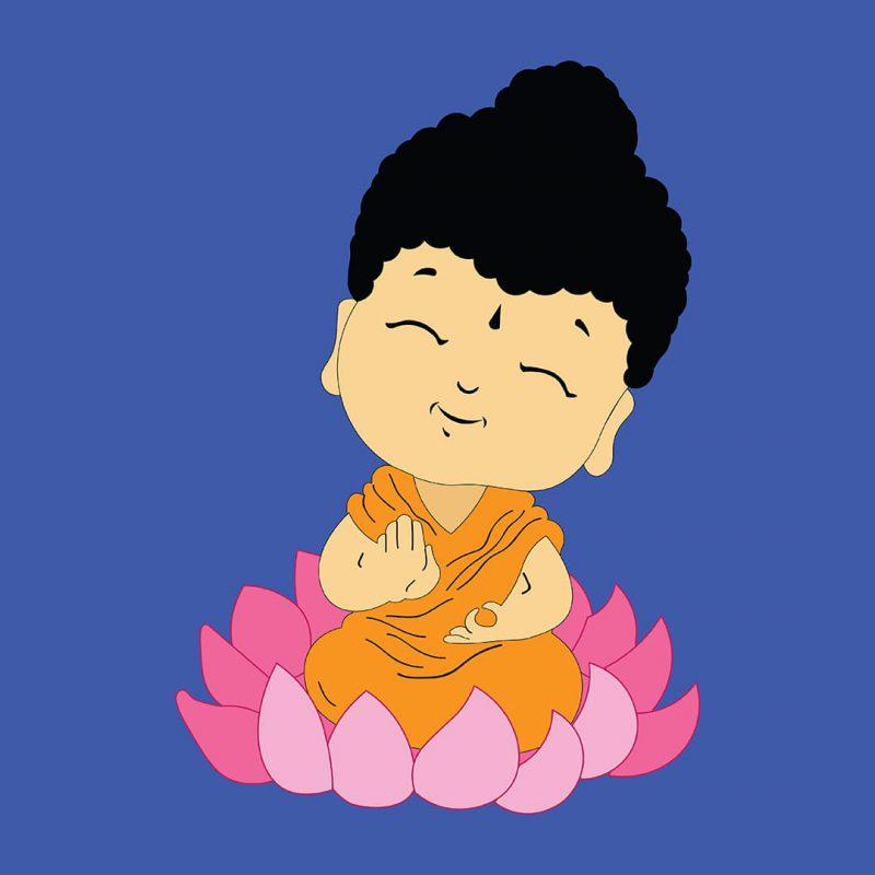 cute buddha swag swami kids t shirt design