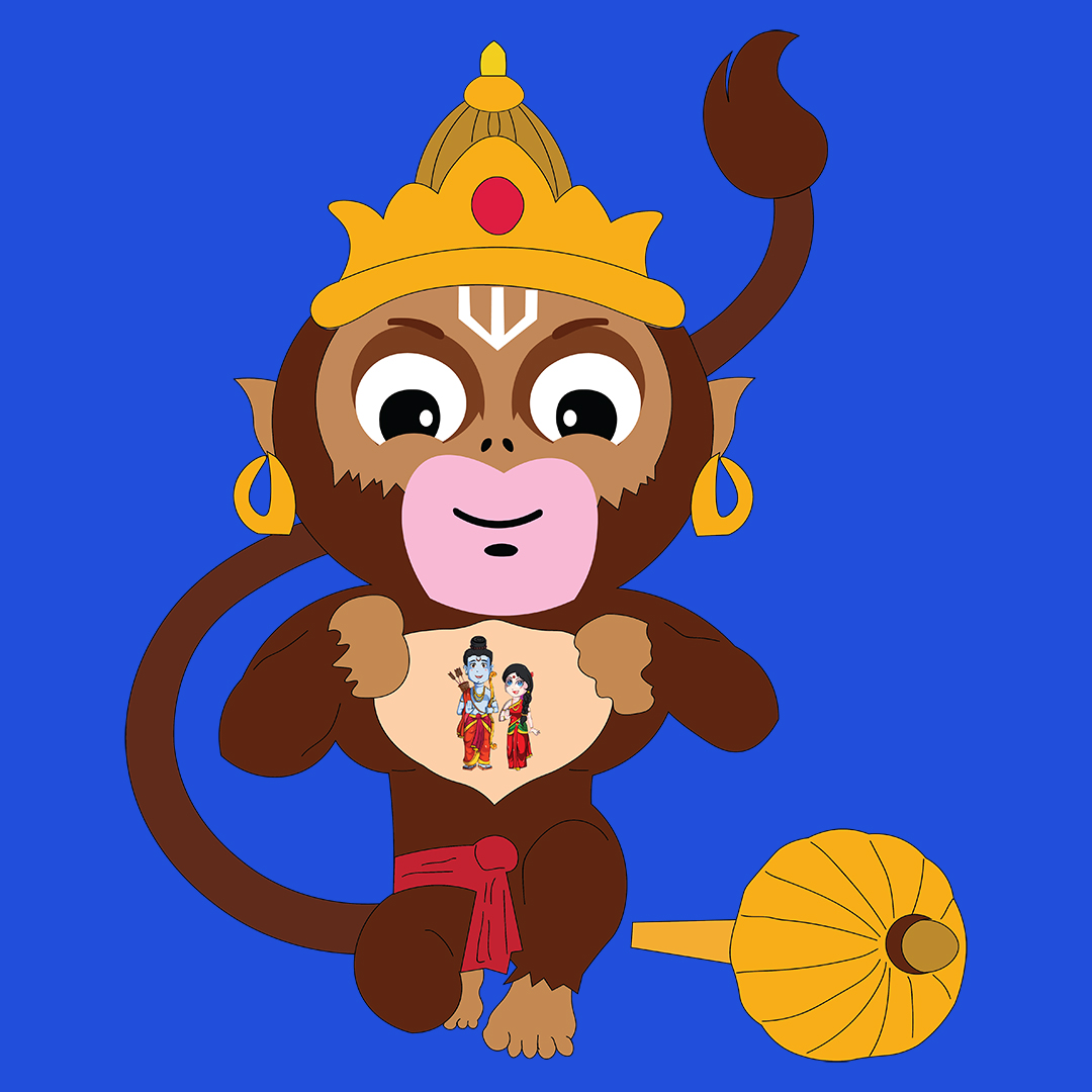 Cute Hanuman With Lord Ram And Sita Women S T Shirt Swag Swami