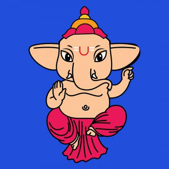 cute sitting ganesh