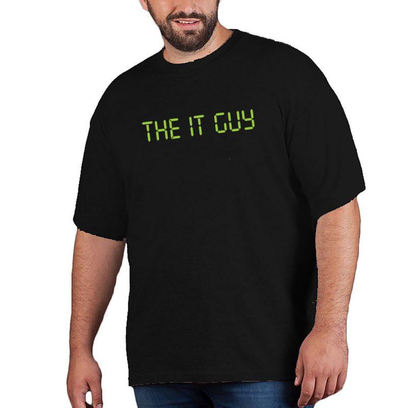 the it guy men plus size t shirt black front