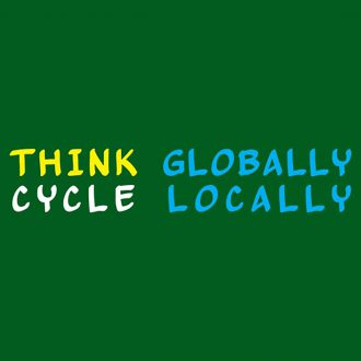 think globally cycle locally
