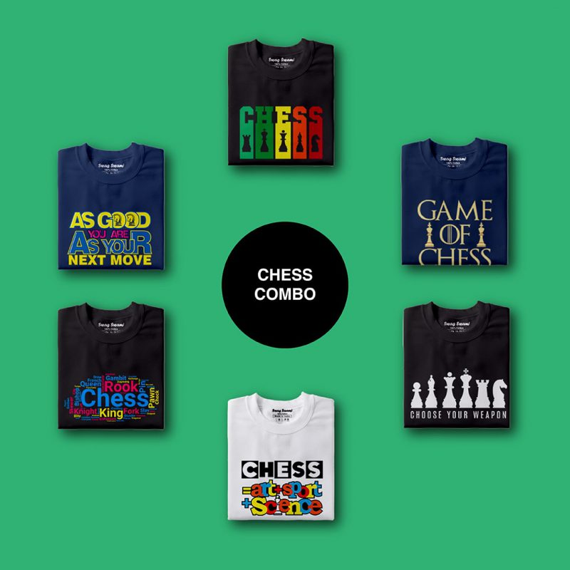chess unisex t shirts combo pack 6 nos 1