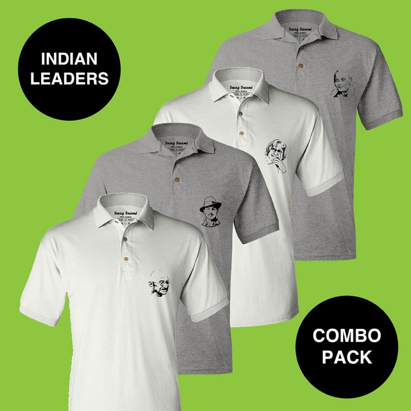 indian leaders polo t shirt combo pack