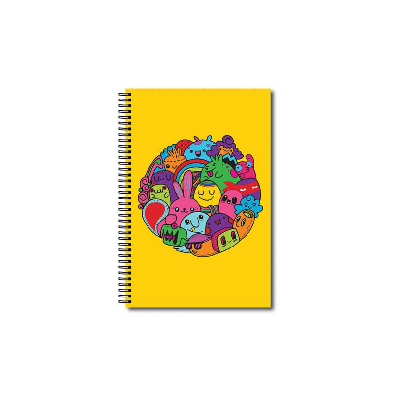 swag swami colourful cartoons cute notebook front