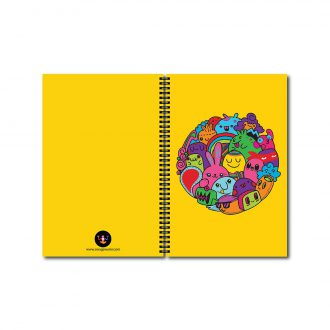 swag swami colourful cartoons cute notebook front and back