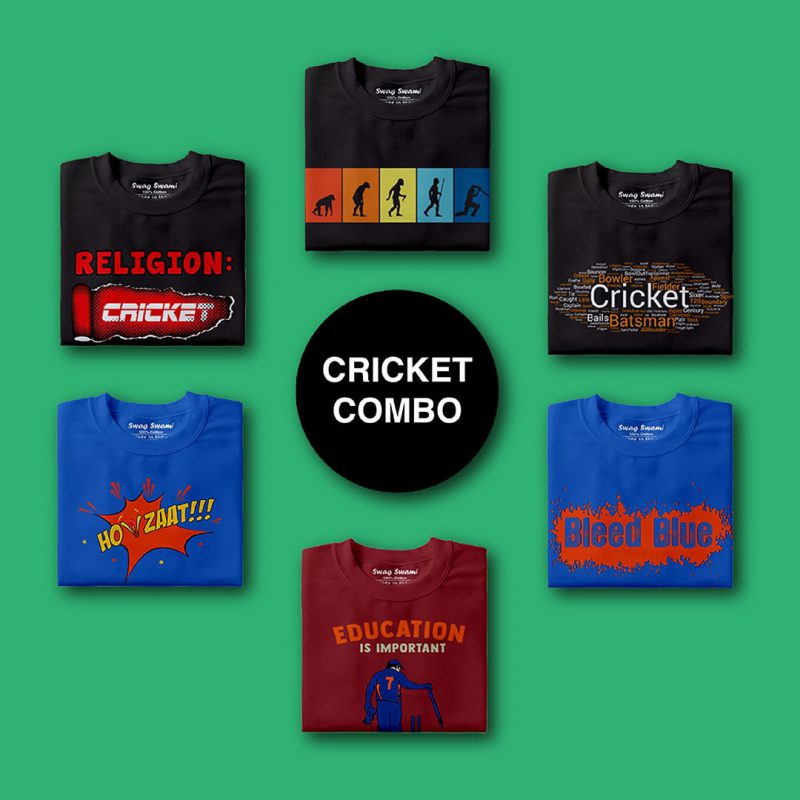 swag swami cricket unisex t shirts combo pack 6 nos 1