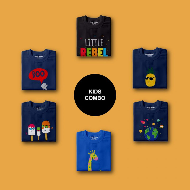 swag swami cute design kids unisex t shirts combo pack 6 nos 1