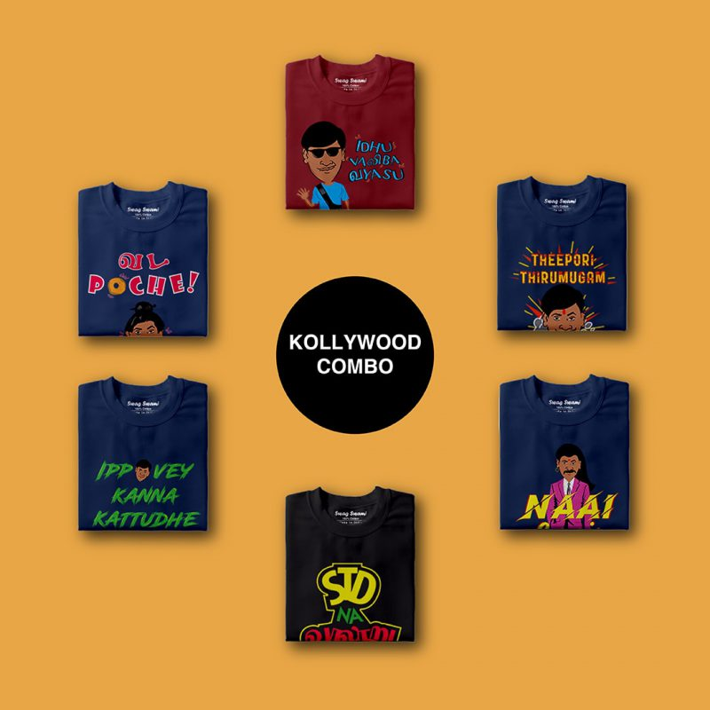 swag swami kollywood unisex t shirts combo pack 6 nos 1