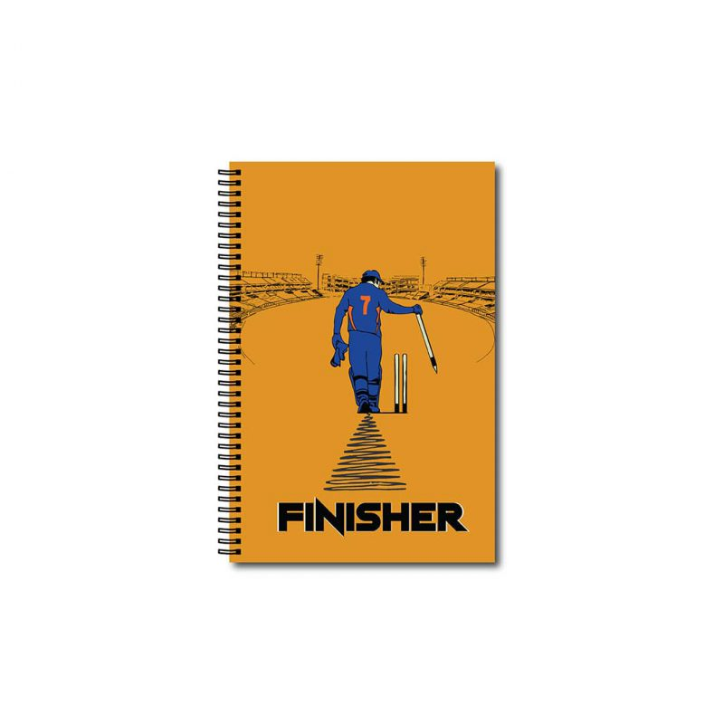 swag swami msd the finisher cricket notebook front