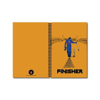 swag swami msd the finisher cricket notebook front and back