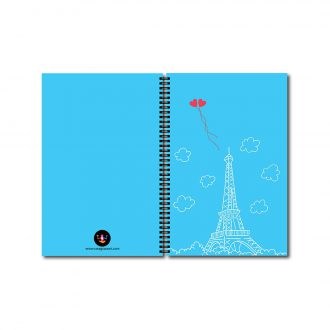 swag swami paris love vibes matching notebooks for couples front and back