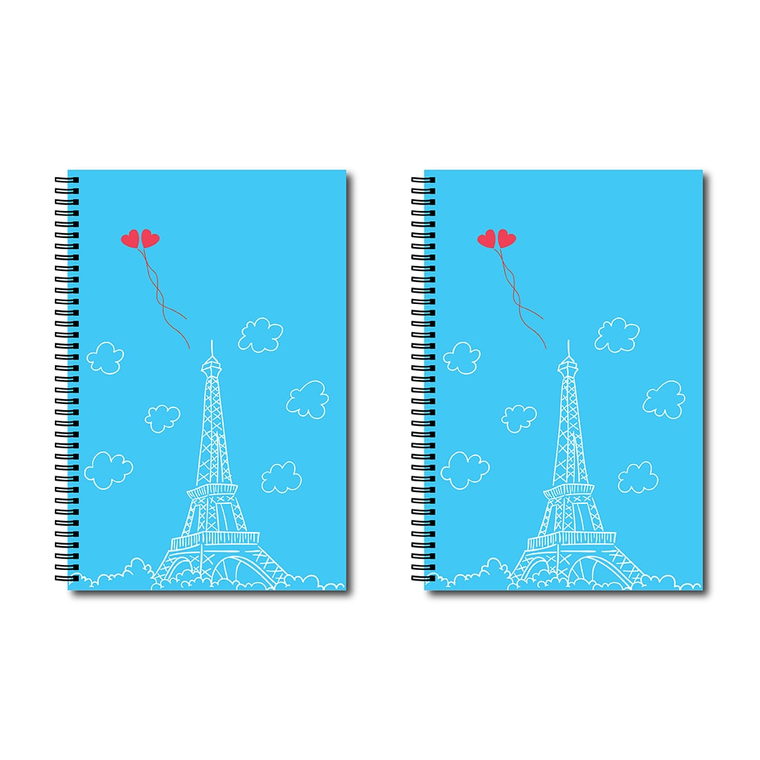 Swag Swami Paris Love Vibes Matching Notebooks For Couples Front