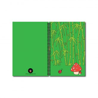 swag swamibamboo ladybug and mushrooms evergreen nature notebook front and back