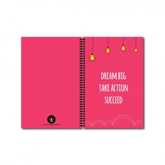 swag swamidream big take action succeed motivation notebook front and back