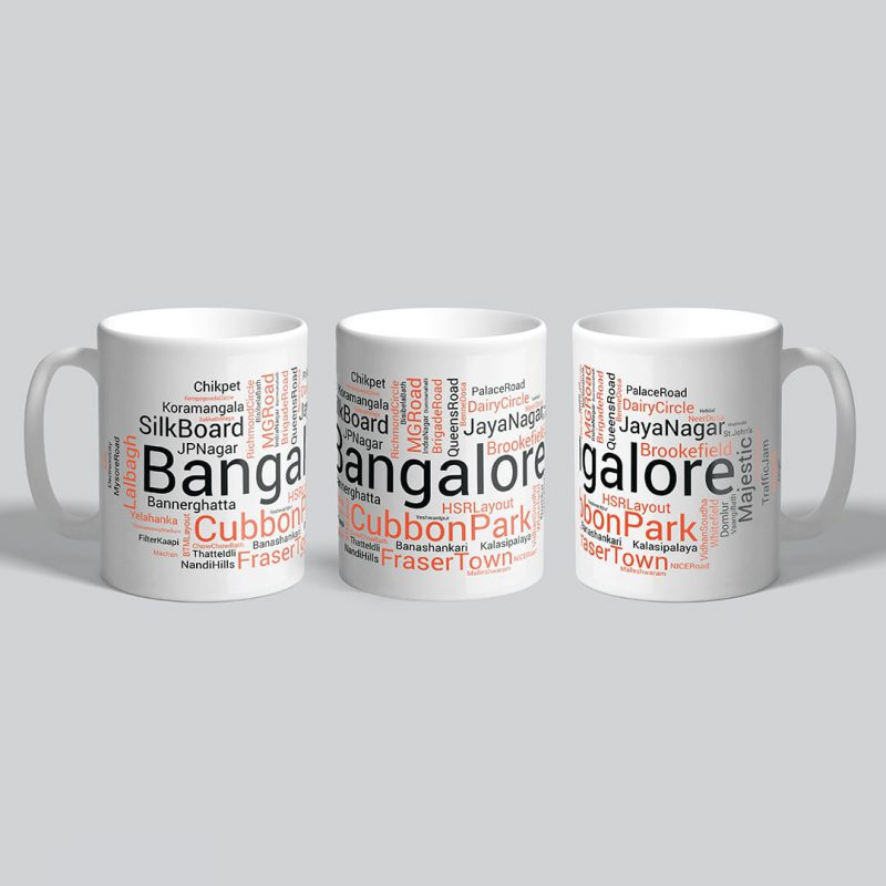 bangalore places foods and attractions coffee mug