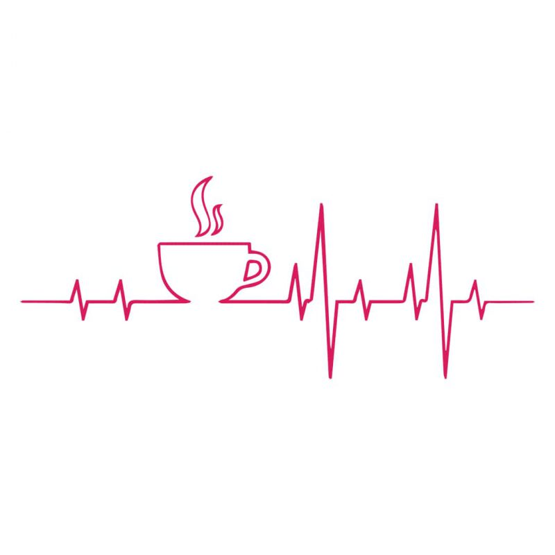 coffee is in my heartbeat coffee mug full design