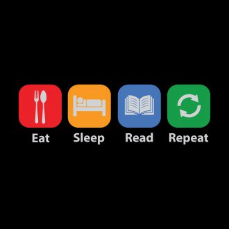 eat sleep read repeat