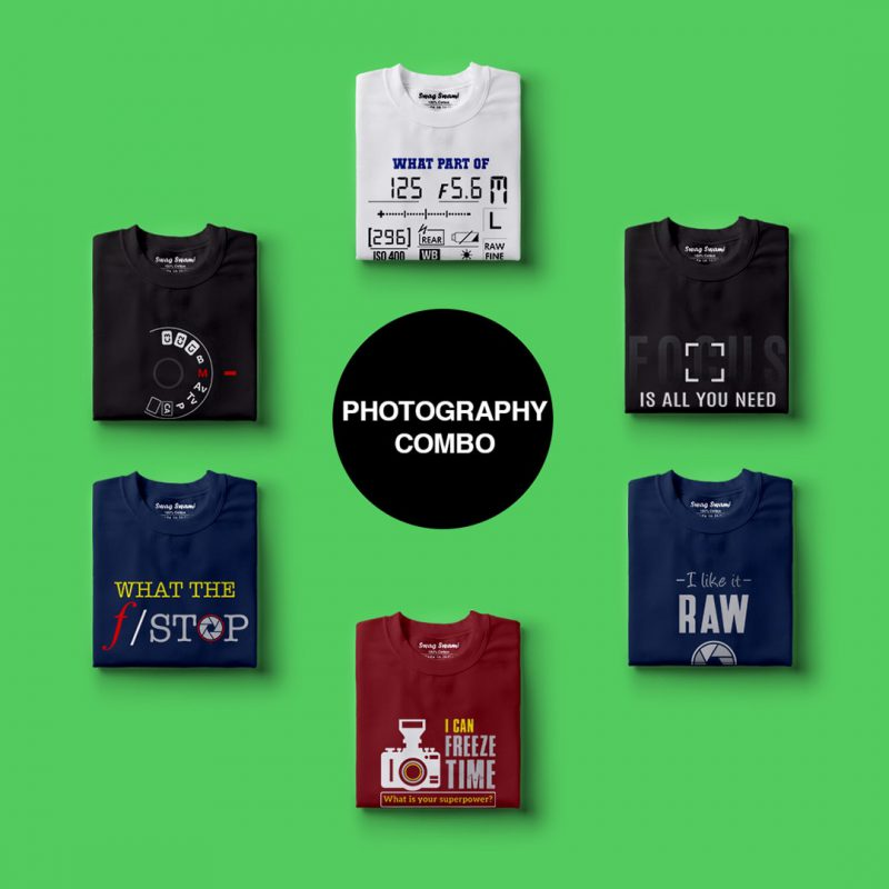 photography t shirts combo pack