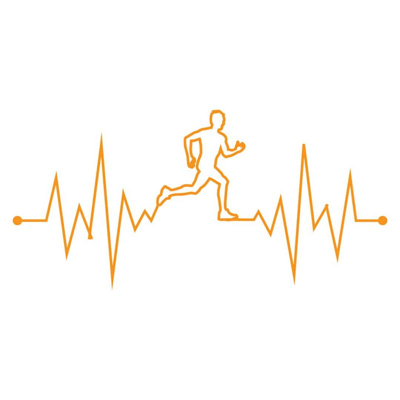 running is in my heartbeat coffee mug full design