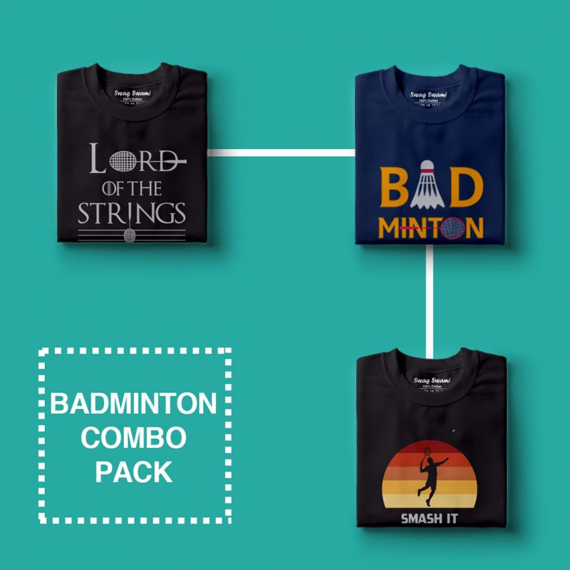 badminton combo pack 1 casual cotton t shirts