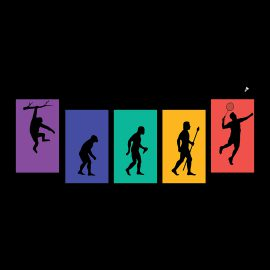 badminton evolution funny