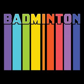 badminton tall colourful