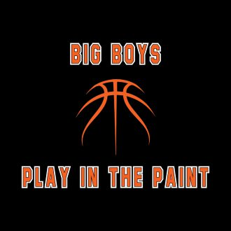 big boys play in the paint basketball