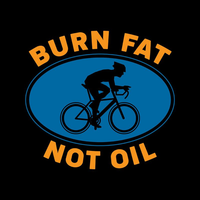 burn fat not oil cycling combo pack 2 casual cotton t shirts
