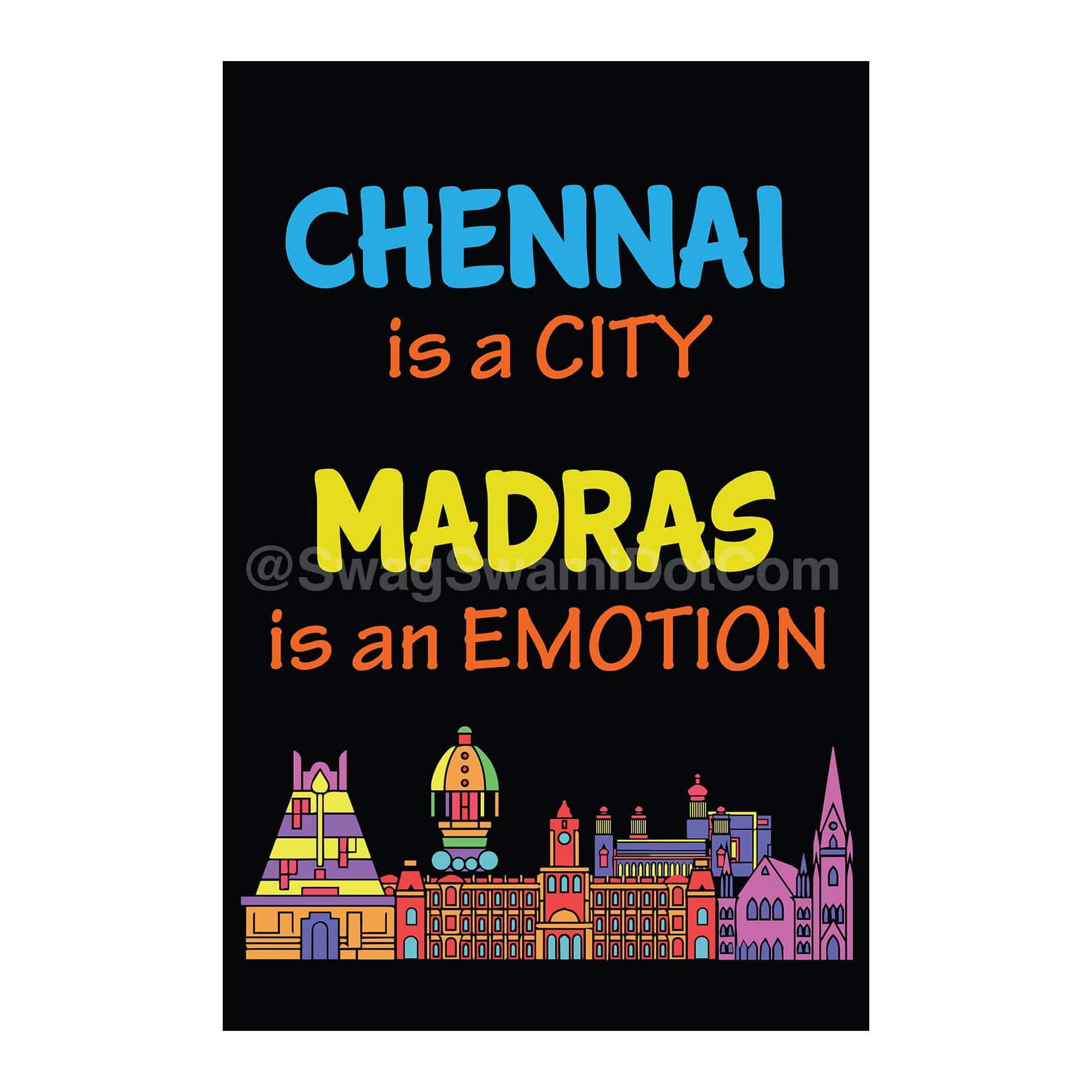 Chennai Is A City Madras Is An Emotion Poster