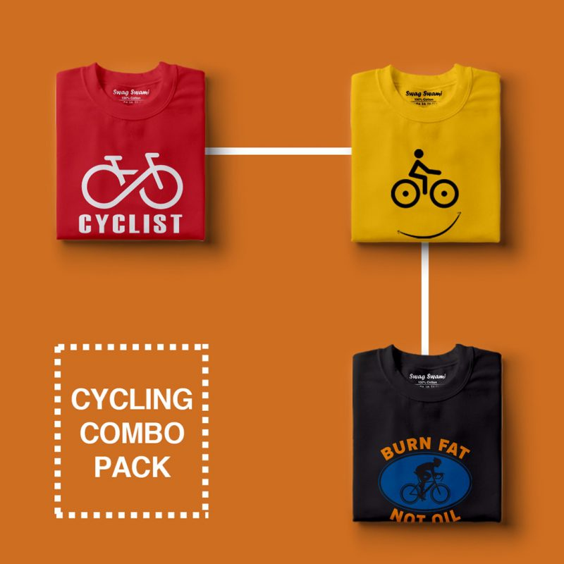 cycling combo pack 2 casual cotton t shirts