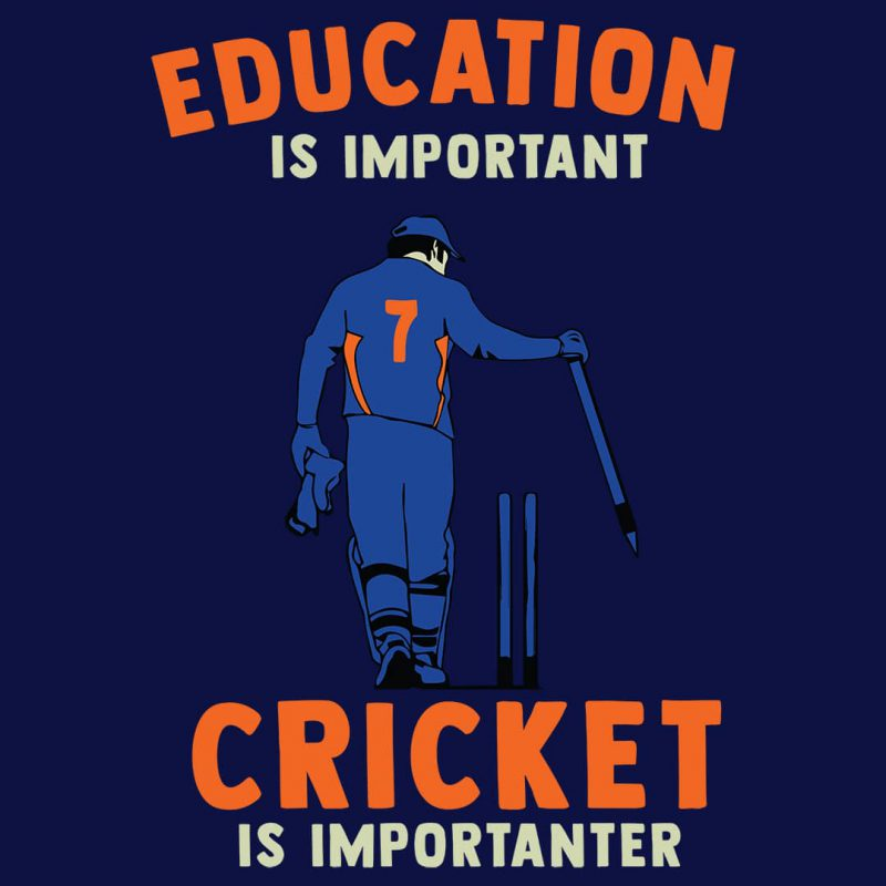 education is important cricket is importanter cool cricket t shirt collection combo pack
