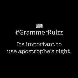 grammar rules sarcasm apostrophe
