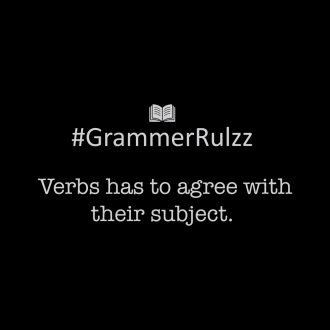grammar rules sarcasm subject verb agreement