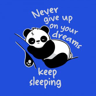 panda combo never give up dreams keep sleeping