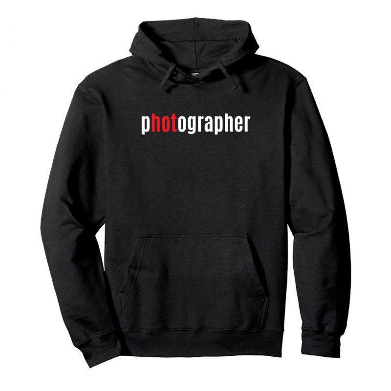 photographer hot unisex hoodie black front