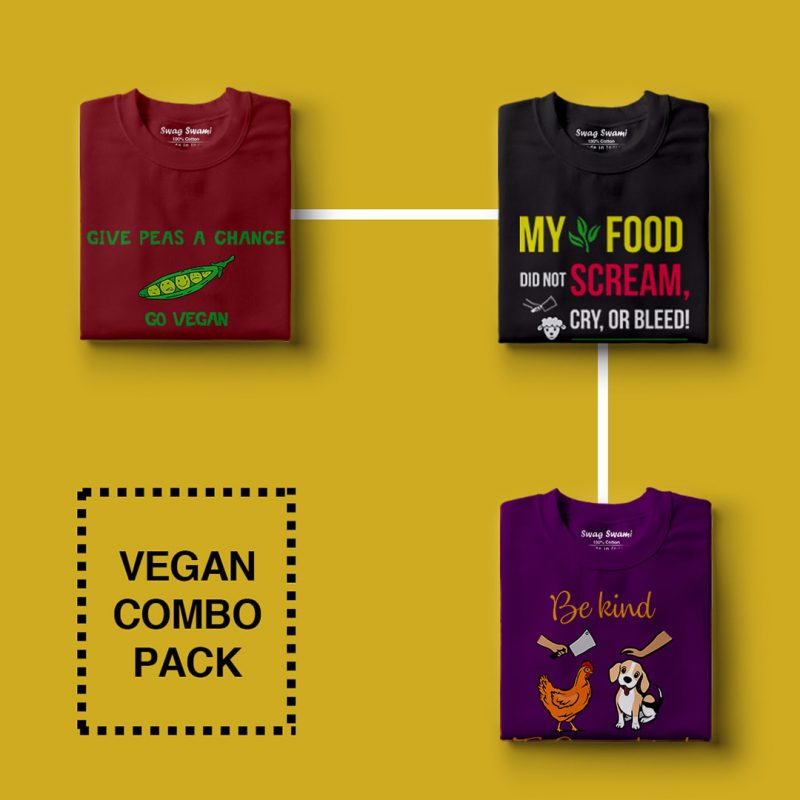 vegan unisex t shirts combo pack 3 3 nos