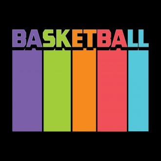basketball tall and colourful