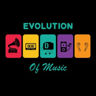 evolution of music colourful